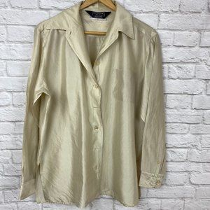 Max Mara Weekend Gold Silk Shirt